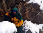 Climbing the route Diktamos in winter of 1999